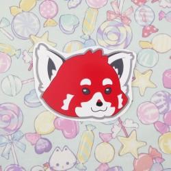 Grand stickers panda roux