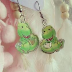 Boucles d'oreilles T-rex
