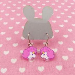 Boucles d'oreilles licornes
