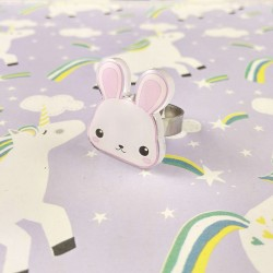 Bague lapin mascotte