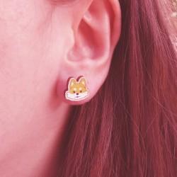 Boucles d'oreilles Shiba